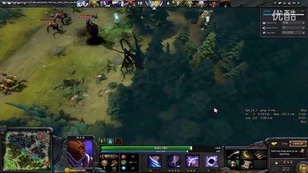 DOTA2 中国玩家操刀敌法,怒挡Dendi影魔秀