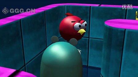 ★愤怒的小鸟★《大战吃豆人》3D动画