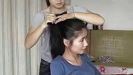 美女剪发、剃光