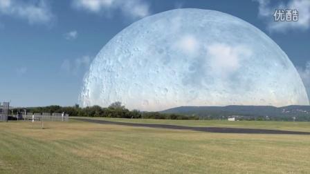 【粉红豹】震撼奇观:如果月球离我们只有300公里,会怎样?