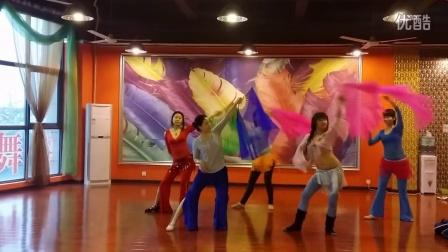 中山肚皮舞瑜伽培训JQ国际肚皮舞学校导师班学生中国风肚皮舞练习