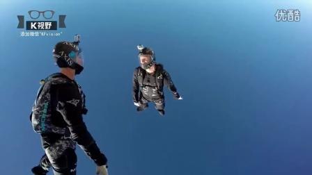 [K分享] 尿了!外国牛人跳伞玩水滑梯