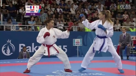 Emily Thouy Gold Womens Kumite - 55kg _ Baku 2015 European Games