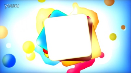 多彩液体气泡液泡正方形旋转卡通动画儿童节六一绘画颜料水彩高清视频素材背景led