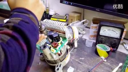海尔洗衣机0024000133变频电机拆装视频
