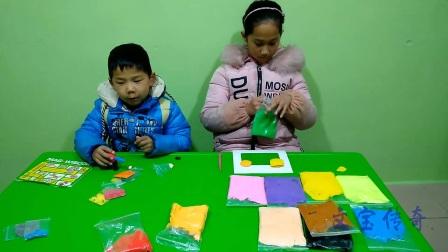 文宝和姐姐一起玩 亲子游戏 儿童玩具