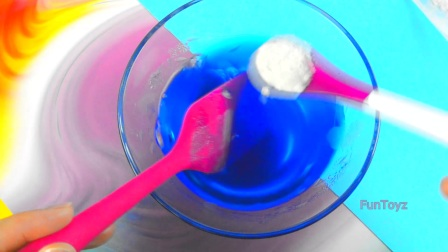 DIY 不用胶水的史莱姆 瓜尔胶 鬼口水 鼻涕胶 Guar Gum Slime FunToyz