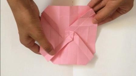 手工艺制品 儿童折纸教程玫瑰花折纸艺术 亲子互动游戏叠玫瑰花 Diy折纸大全 新手入门教程