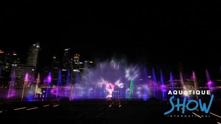 """法国国际水秀的世界之旅-新加坡玛丽娜湾—幻彩生辉""""SPECTRA""""秀"""