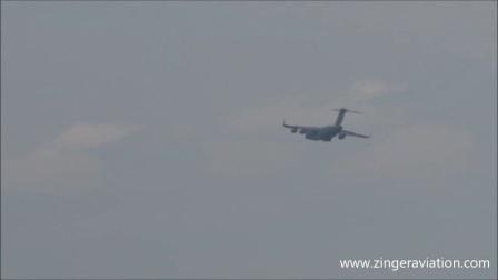 C-17环球霸王III飞机2017纽约航展飞行表演