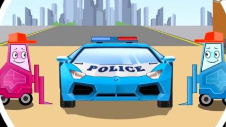 汽车总动员动漫 汽车城的巡逻队 土方车偷草莓,警车大追捕 大吊车 土方车建木屋