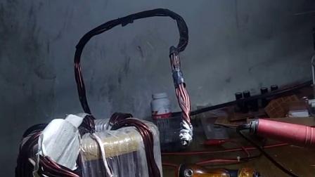 环形变压器400A电流瞬间烧红刀片