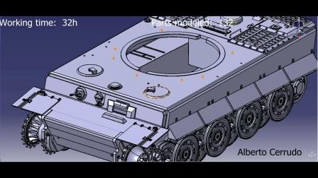 老外catia画的德国二战虎式坦克