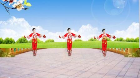 峰峰慧珍广场舞手绢舞【红红火火过大年】