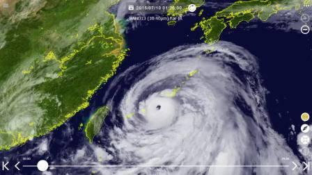 台风201509灿鸿(Chan-hom)红外卫星云图