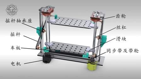 第八届全国大学生机械创新设计大赛全国一等奖作品  汽车跷跷板  西安电子科技大学