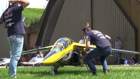 巨型航模飞行表演 阿尔法教练机
