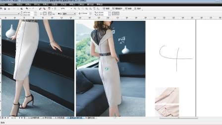 最新服装制版教程服装打版视频教程露肩连衣裙打版-1