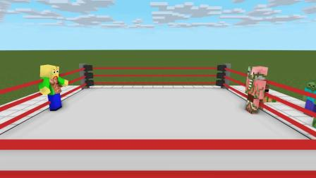 我的世界动画-巴迪版摔角挑战-AppleSauceCraft
