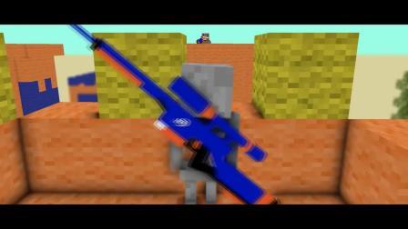 我的世界动画-恐怖之队和怪物学院的Nerf战争-Dmayor