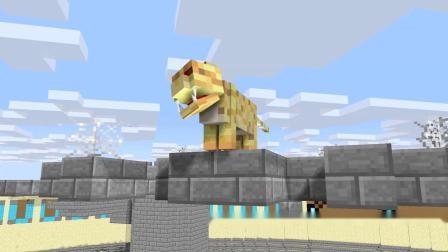 我的世界动画-狮王挑战-PewMieCraft