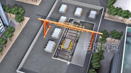 中铁施工动画-地铁铁路高铁高架轨道工程施工三维动画-巨浪视觉