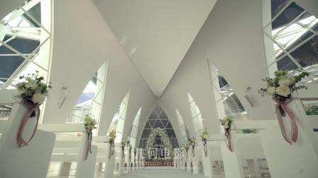 几何电影 水晶海岛仪式堂婚礼