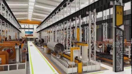 全自动化石油装备生产线动画,巨浪视觉