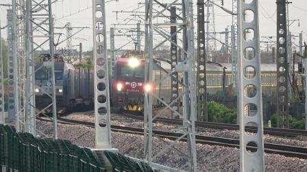 Z282次通过沪昆线沪杭段K181+911KM处乔司机务段旁 HXD3D0494