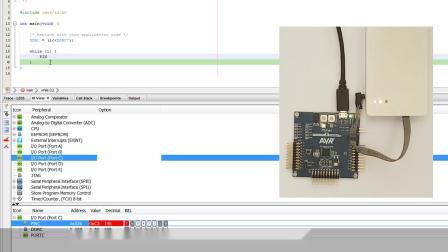 MPLAB® X中的AVR®入门3——使用IO视图和AVR Libc