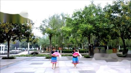 咸阳九月菊广场舞《牡丹花和放羊娃》摄影制作,冬青795