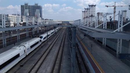 G6075(永州—深圳北)本务广铁长沙段,搭载CRH3C型重联车底,广州北站3站台进站