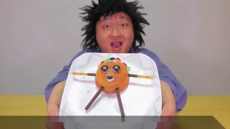 行旅天下 韩国搞笑小哥现场制作甜点,各种花样美食高颜值,一分钟就能学会