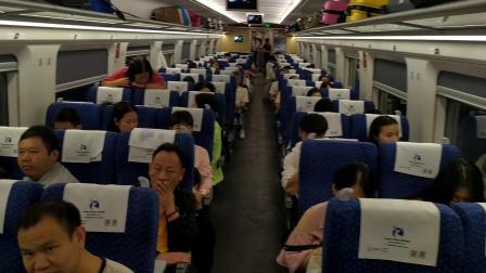 2019年10月1日,D3825次(昆明南站—广州南站)本务中国铁路广州局集团有限公司广州动车段佛山动车运用所CRH1A-A-1221佛山西站发车