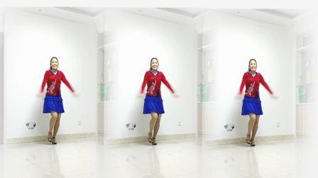 好心情蓝蓝广场舞原创东北二人转优美舞姿【小日子正背面】附教学