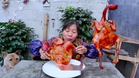"""""""奥尔良烤鸡""""教程来咯,色泽红亮,一次烤2只,吃到满嘴流油_超清"""