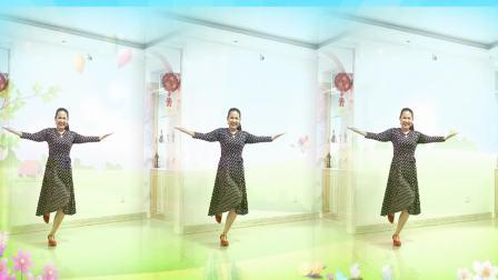 好心情蓝蓝广场舞原创【194】优美抒情【一朵云在蓝天飘过正背面】火爆网络歌曲附教学