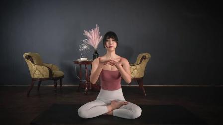 虐腰!美女瑜伽训练 腿部反向拉伸