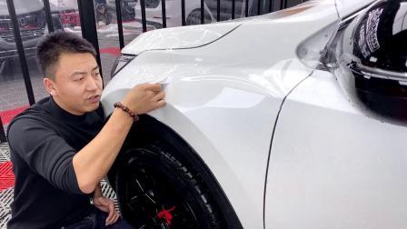 本田前叶子板贴隐形车衣专业技术讲解教学视频 透明膜教程