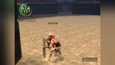 狮子录制 PS2 角斗士自由之路 主角被宿敌打败后羞辱1