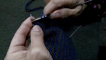 手工针织毛线三角图案全过程