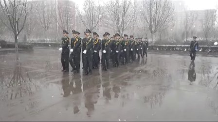 河北外国语学院第四期国旗护卫队入队仪式