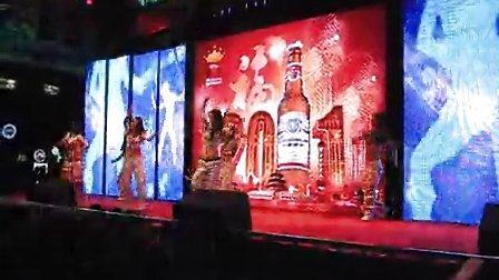 昆明舞蹈培训 纳百姿舞团 专业演艺公司  2011百威夸年现场舞蹈秀
