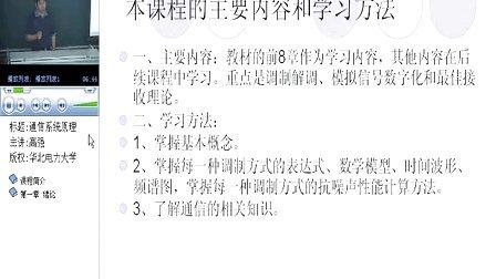 华北电大 通信原理 65讲 樊昌信 五版 全套加Q896730850