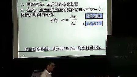 《速度变化快慢的描述--加速度》余杰--高一物理优质课展示