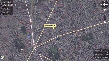 中国内蒙古呼和浩特-新华广场-卫星地图