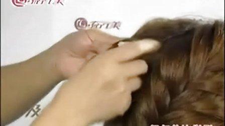 圆脸适合的造型 盘发基础日常发型 编发视频
