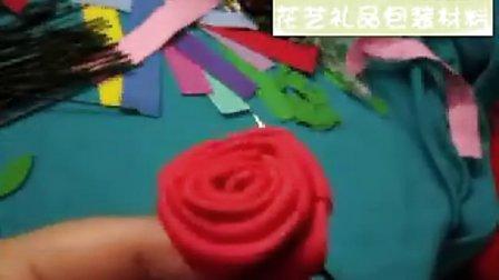 『采花缘』手工花艺视频教程手工花艺制作DIY彩塑棉玫瑰花