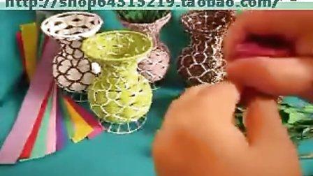 采彩 手工花艺视频教程 DIY彩塑棉玫瑰花制作步骤做法教学视频