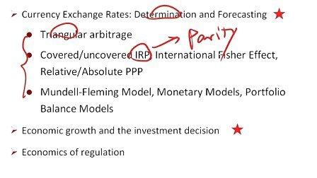 CFA二级知识框架分析3之经济学——三角套汇